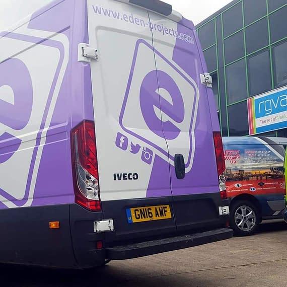 Eden project Custom van Wrap