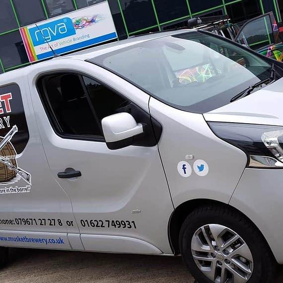 Muskett brewery van wrapping vehicle graphics Maidstone Kent
