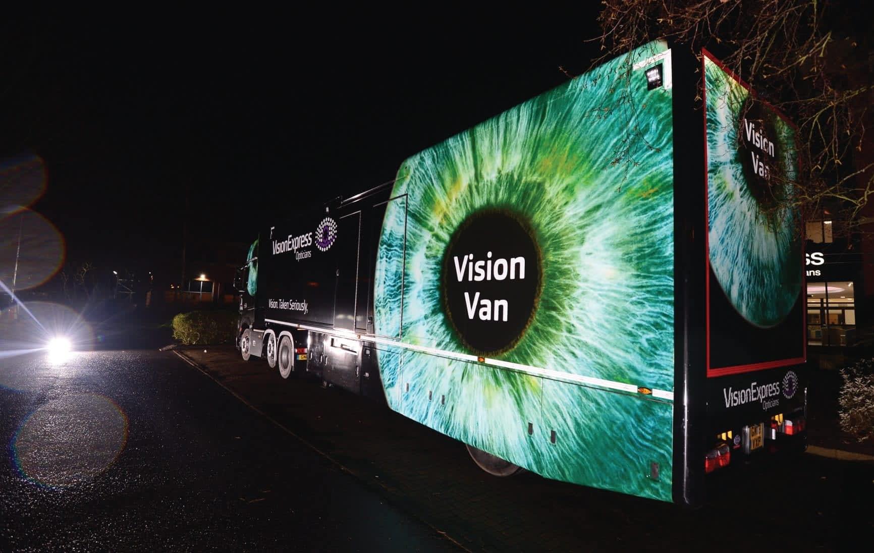 Vision Van wrapped in reflective 3M ij780 vinyl