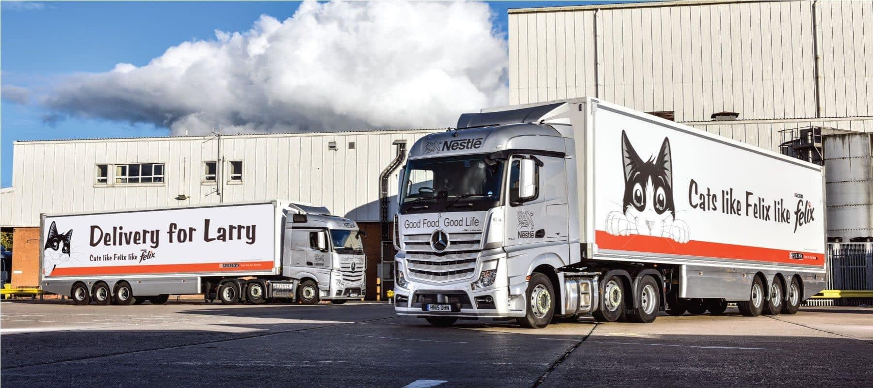 Nestle Felix traxx framed trucks
