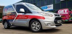 Virtus van wrapping vehicle graphics