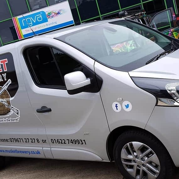 Muskett brewery van wrapping vehicle graphics Maidstone Kent