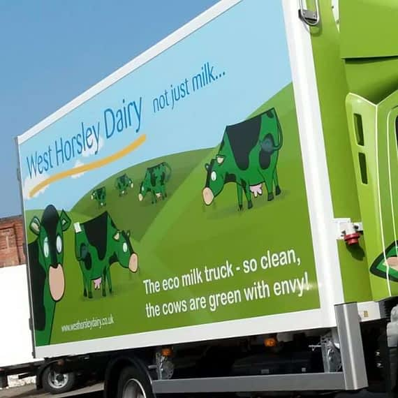 West Horsley Dairy Vehicle Graphics Wrap