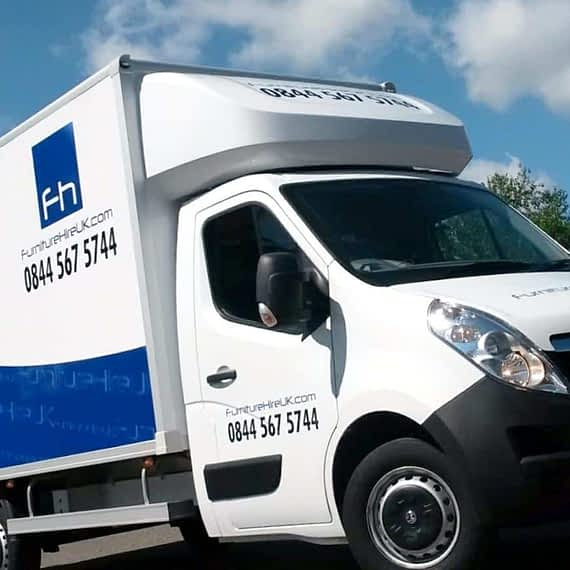 Furniture Hire, fleet vehicle wrap, graphics