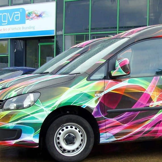 RGVA own vehicles van wrap