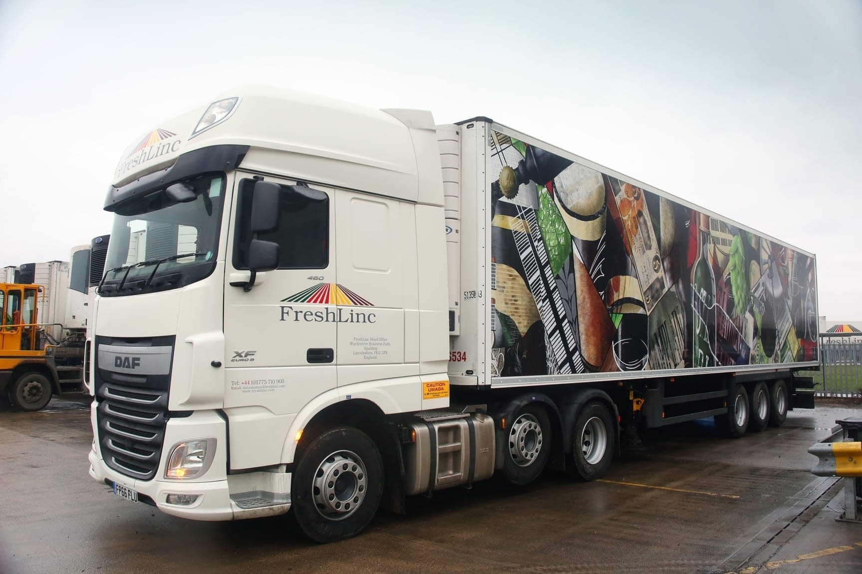 Artistic lorry livery
