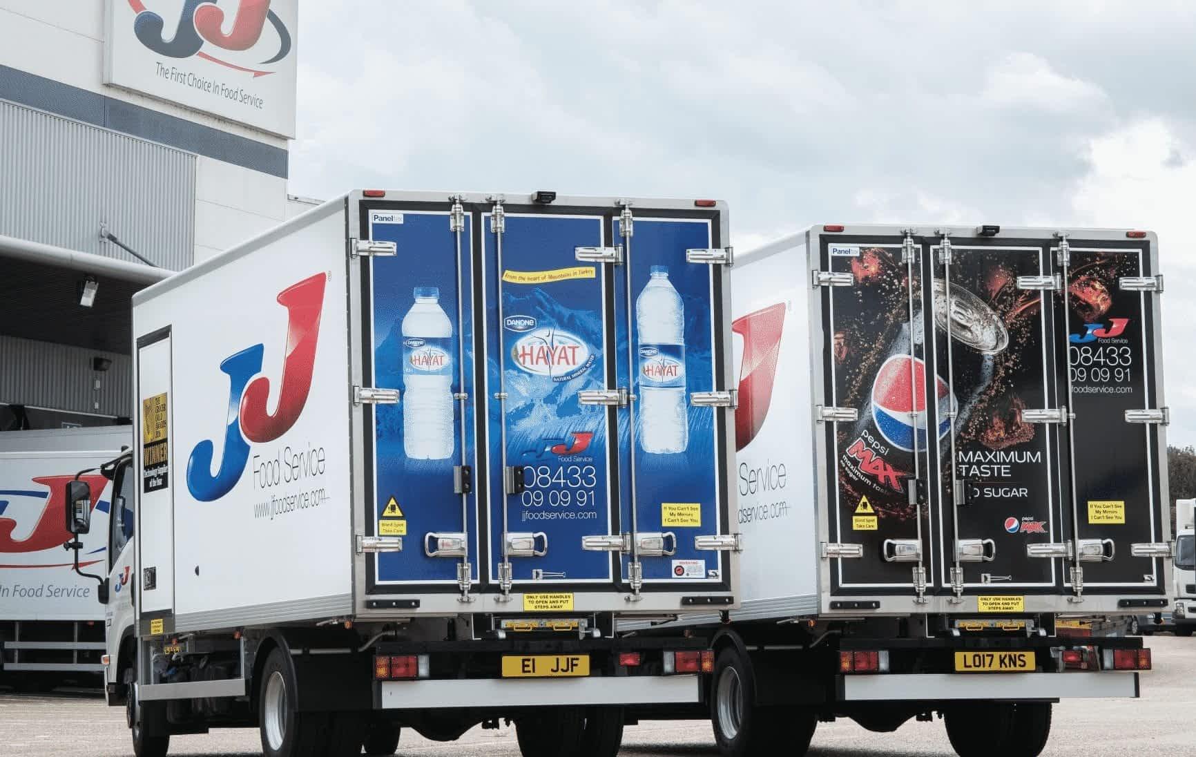 JJ Foods delivery van wraps
