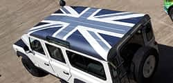 Landrover custom wrapping vehicle graphics