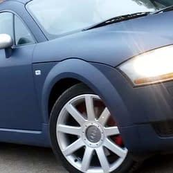 Audi TT vehicle wrap in dark blue