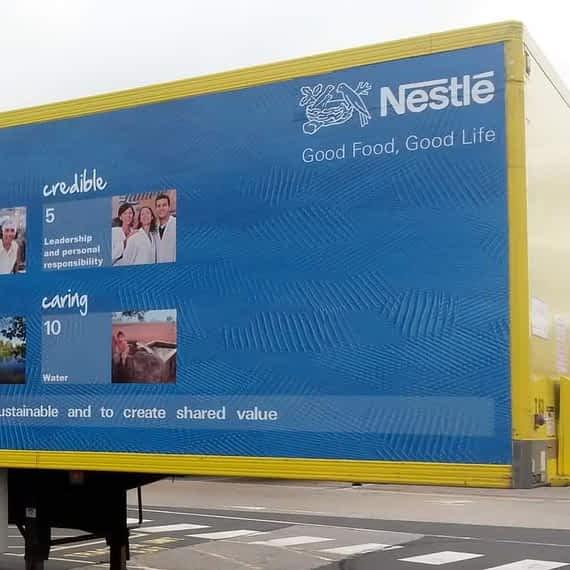 Nestle, fleet vehicle wrap, graphics