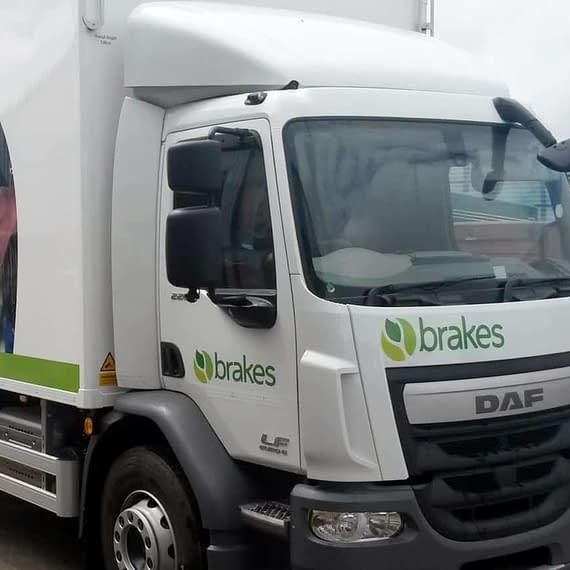 Brakes fleet vehicle wrap, graphics