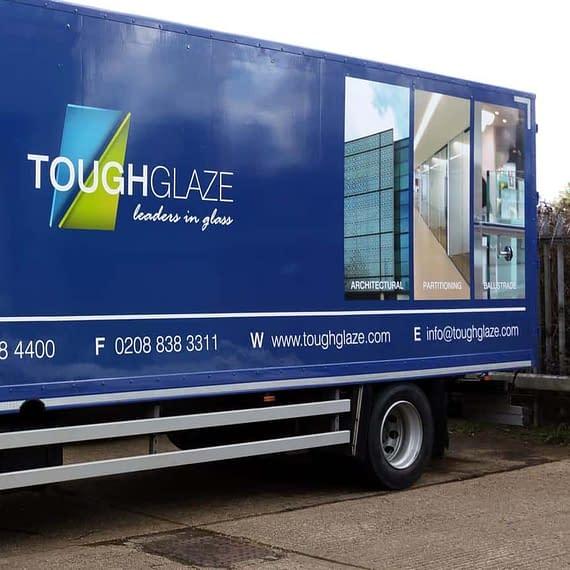 Tough Glaze fleet vehicle wrap, graphics