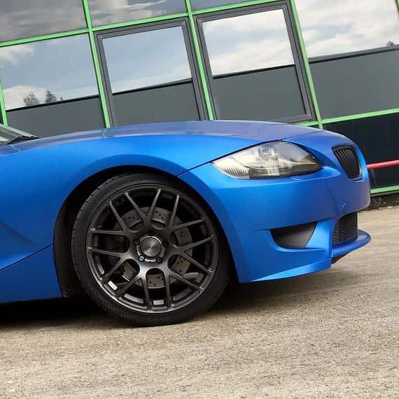 BMW matt blue colour change