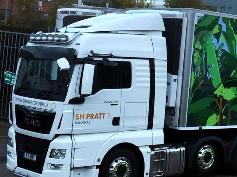SH Pratt Custom lorry graphics wrap