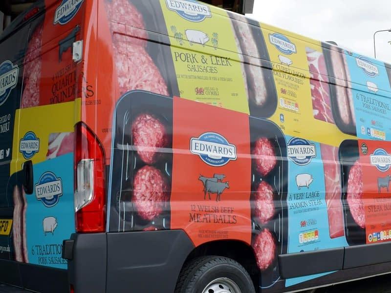 Edwards van, fleet vehicle wrap, graphics